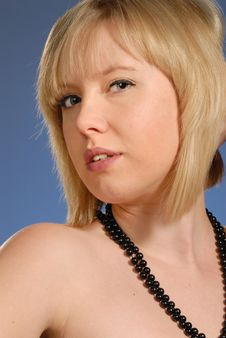 Free Cute Blond Lady With Sensuous Expression Stock Photography - 6805632