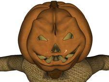 Pumpkin Head Scarecrow 2 Royalty Free Stock Image