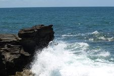 Free Cliff In The Sea Royalty Free Stock Photos - 6806788