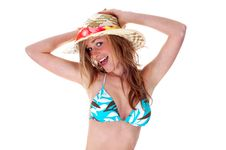 Free PRETTY BLONDY WITH HAT Royalty Free Stock Photos - 6807018