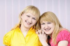 Free Portrait Of Two Attractive Sisters Stock Photography - 6807782