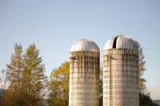 Free Pair Of Silos Stock Photography - 6807792