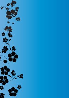 Free Blue Black Floral Royalty Free Stock Photo - 6808385