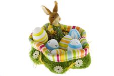 Free Easter Bunny In The Nest With Eggs Royalty Free Stock Image - 6808446
