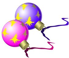 Free New Year Tree Decorations, Balls Stock Photos - 6808663