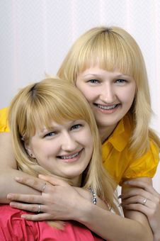 Free Portrait Of Two Blond Sisters Stock Photo - 6809110