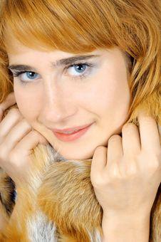 Free Pretty Blue-eyed Foxy Woman Royalty Free Stock Photography - 6809197