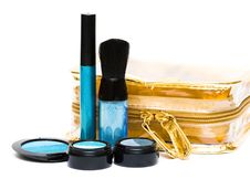 Free Blue Set For Make-up Royalty Free Stock Photo - 6809405