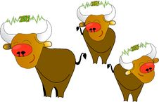 Free Cartoon Bull Royalty Free Stock Image - 6809446