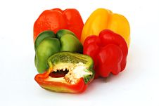 Free Colorful Sweet Peppers Stock Image - 6809551