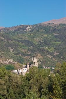 Castle In Italy, Aosta Stock Images