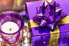 Free Candle With Heart And Gift Box Stock Photos - 6809803