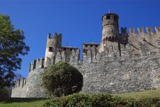 Free Castle In Italy, Aosta Royalty Free Stock Photo - 6809805