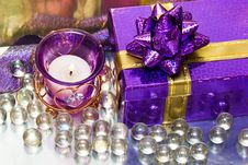 Free Candle With Heart And Gift Box Stock Photo - 6809820