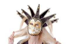 Free A Pretty Woman In Venus Music Mask Royalty Free Stock Photography - 6809847
