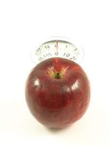 Free Apple On Scales, Isolated Royalty Free Stock Image - 6809866