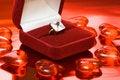 Free Diamond Ring In Red Box Stock Image - 6810351