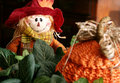 Free Scarecrow And Straw Pumpkin Royalty Free Stock Photography - 6817807