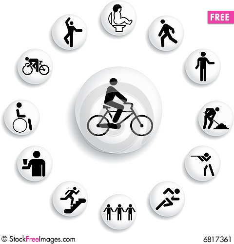 Free Set Buttons - 34_B. People Stock Image - 6817361