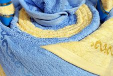 Free Towels Blue Royalty Free Stock Photography - 6810137