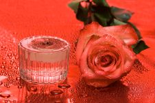 Free Candle With Rose Stock Photo - 6810250