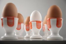 Free Eggs In Cups Royalty Free Stock Photos - 6810578