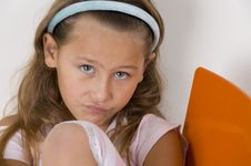 Free Little Girl Giving Attitude Expression Stock Photo - 6810670