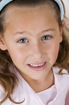 Free Close Up Of Cute Smiling Girl Stock Photography - 6810672