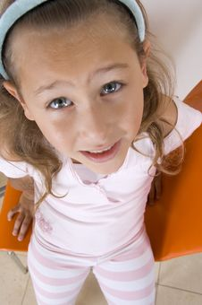 Free Aerial View Of Smiling Little Girl Royalty Free Stock Image - 6810676