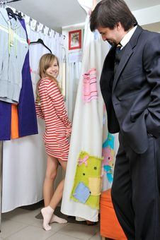 Free Fitting On Clothes Stock Image - 6810721