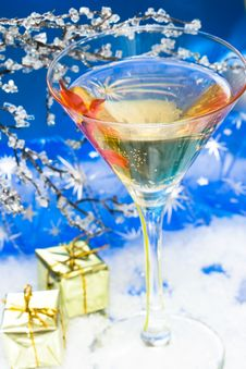 Free Glass With Champagne Stock Images - 6810834