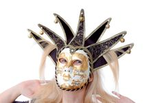 Free Pretty Woman In Venus Music Mask Royalty Free Stock Photography - 6810867