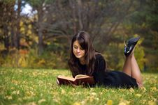 Free Young Girl Reading A Book Royalty Free Stock Images - 6810979