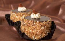 Miniature Chocolate Cakes Royalty Free Stock Photo