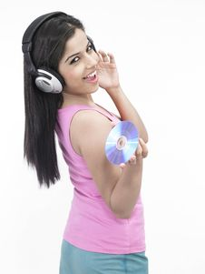 Free Asian Woman With Headphones Royalty Free Stock Image - 6811486