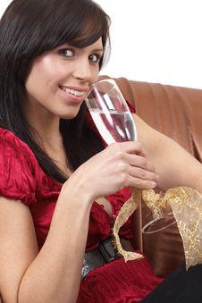 Free Portrait Of Beautiful Brunette Woman Stock Photo - 6811510