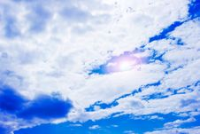 Free Blue Sky With Clouds Royalty Free Stock Images - 6811519