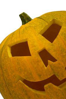 Big Orange Jack-O-Lantern Pumpkin Royalty Free Stock Photo