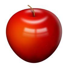 Free Shiny Red Apple Stock Photo - 6811630