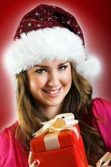 Free Christmas Portrait Of A Woman Royalty Free Stock Image - 6811796
