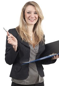 Free Beautiful Blonde Businesswoman Stock Images - 6811904