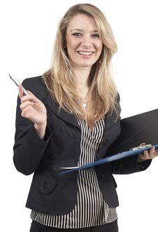 Beautiful Blonde Businesswoman Stock Images