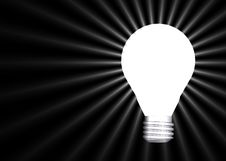 Free Glowing Lightbulb Royalty Free Stock Photos - 6811958