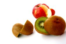 Free Apple And Kiwi Stock Photo - 6812080