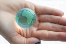 Free Earth Globe (Africa View) In Female Hands. Stock Photography - 6812772