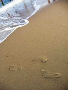 Free Footprints Royalty Free Stock Images - 6813029