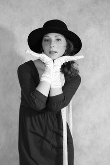 Free A Girl In Gloves Stock Images - 6813094