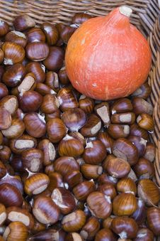 Free Basket Of Chestnuts Stock Photography - 6813132