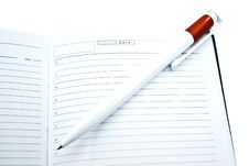 Free Notebook And Pencil Royalty Free Stock Image - 6813426