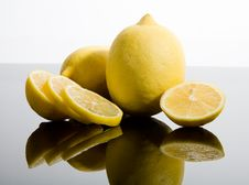 Free Sliced And Whole Lemons Stock Photography - 6813492